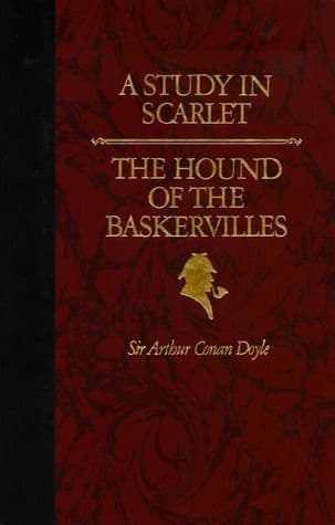 A Study in Scarlet | The Hound of the Baskervilles  [Hardcover] by Arthur Conan Doyle