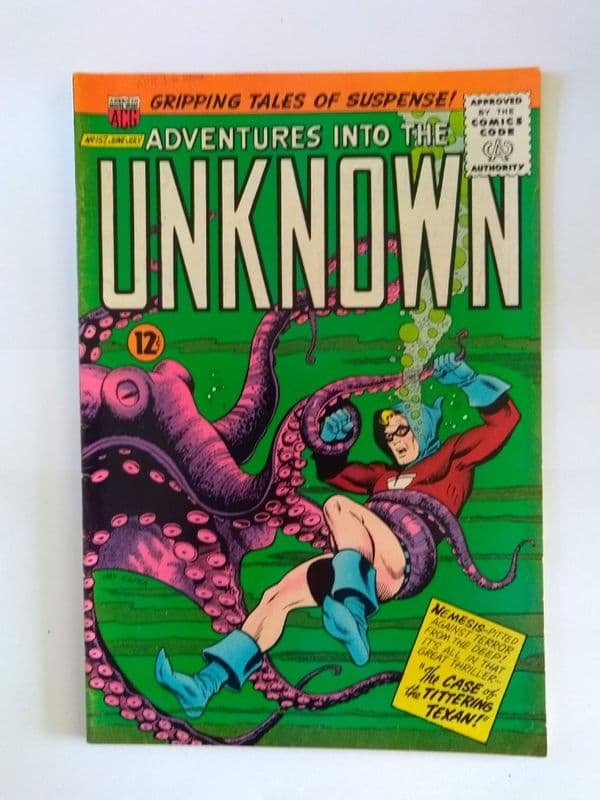 ADVENTURES IN TO THE UNKNOWN NO 157 JUNE/JULY 1965
