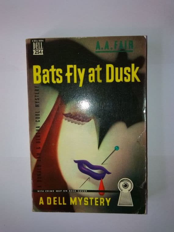 DELL MAPBACK: Bats Fly At Dusk (paperback) by A.A. Fair