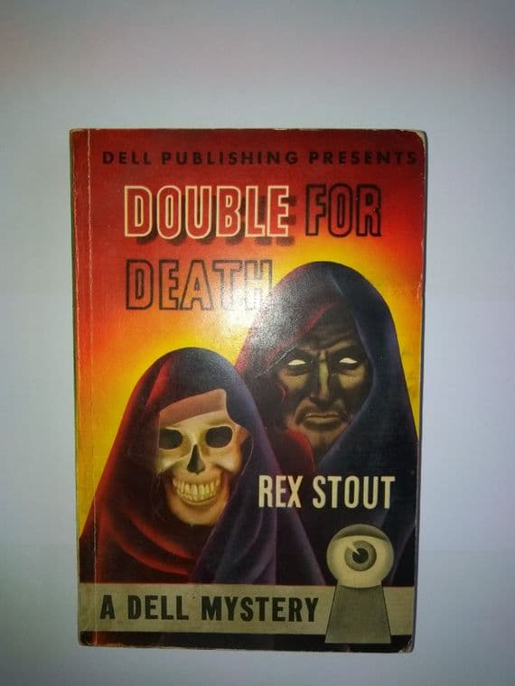 DELL MAPBACK:   Double for Death (paper back) by Rex Stout.