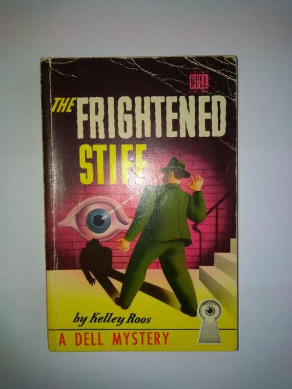 DELL MAPBACK: The Frightened Stiff. (Paper Back) by Kelley Roos.