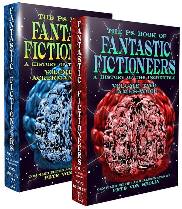 The PS Book of Fantastic Fictioneers [ hardcover set] edited by Pete Von Sholly