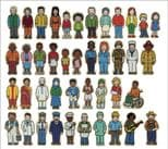 Wooden People Set - 42 Pieces