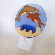 Dolphin Mother and Baby LED Night Light