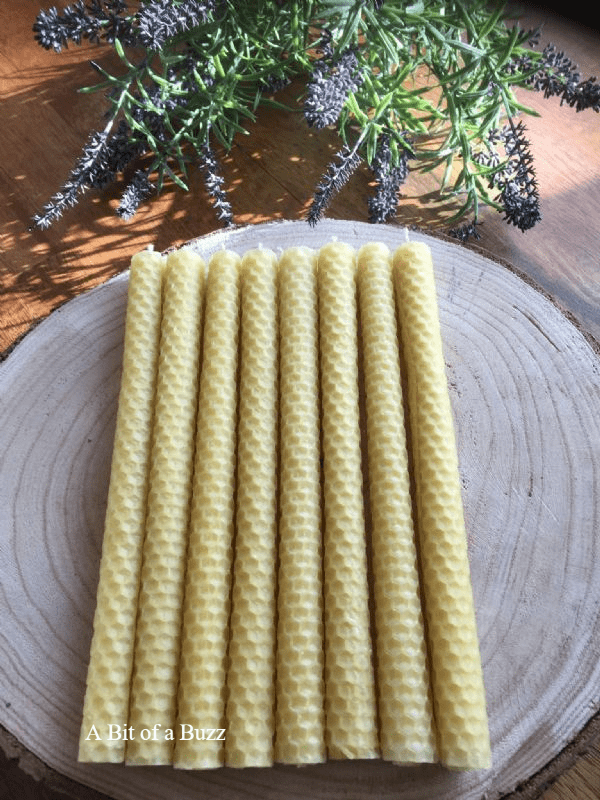 8 x Beeswax Taper Candles
