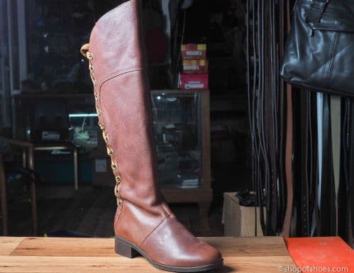 Adesso Hope long leather boot in Cognac