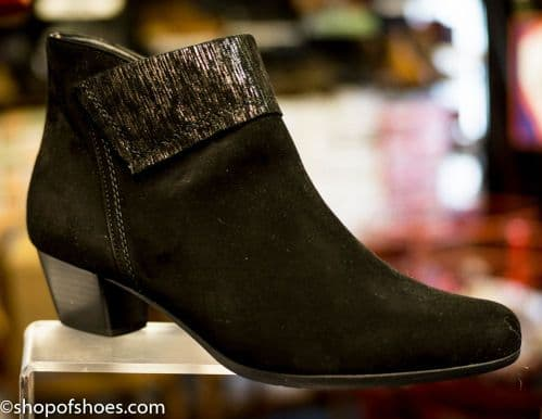 Alpina Pearle black  heeled zip ankle boot