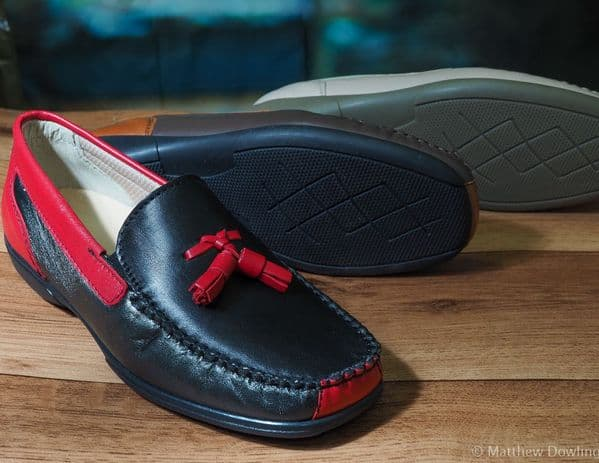 Biddlestone wide fitting spring/summer moccasin with removeable insole