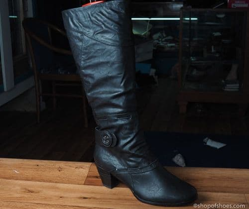 Black  full length pu boot