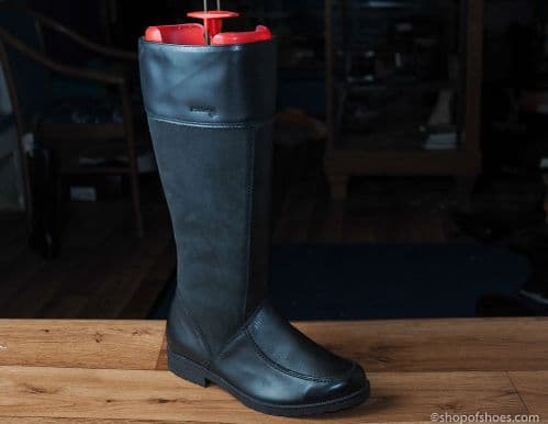 Black  leather longer EE  boot from padders