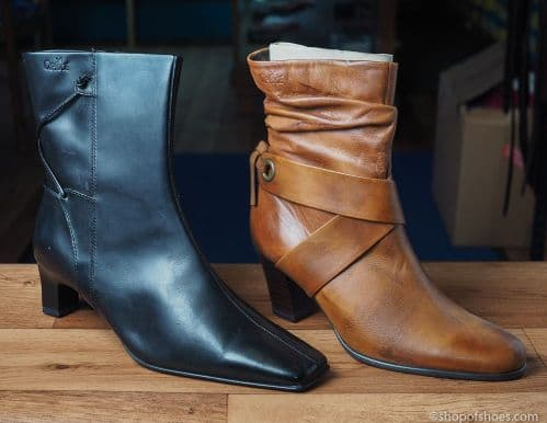 Black or tan  leather ankle length boot from Caprice .