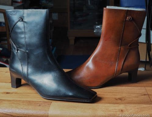 Black or tan smart  leather ankle length boot from caprice
