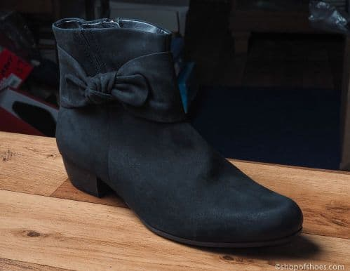black suede ankle length boot from caprice