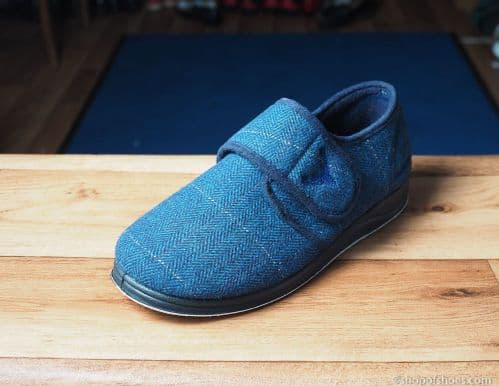 Charles, Wide fitting mens slipper available in black