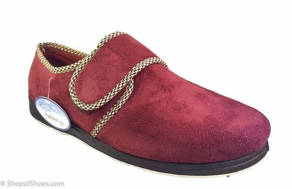 Charles, Wide fitting mens slipper available in burgandy