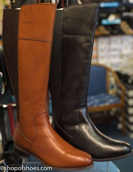 Cipriata knee length leather zip  boot  in tan or black.