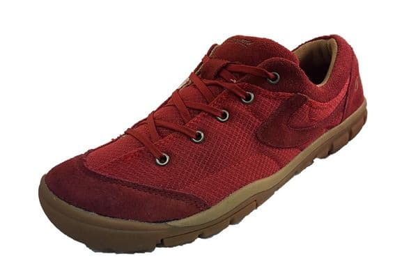 Cotswold red bordo lace up suede leather lesure shoe.