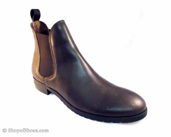 "Cotswold waterproof dark Brown leather short ""stable"" boot"