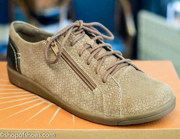 Earth spirit suede leather zip laced lesure shoe.