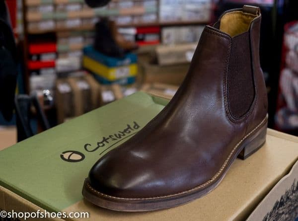 Fantastic deep brown smart leather Chelsea boot with comfort footbed.