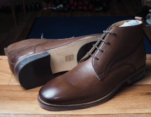 Fantastic smart deep brown  leather laced boot with comfort footbed