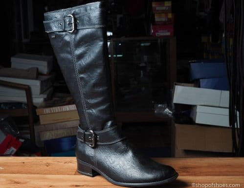 great looking, PU leather full length boot