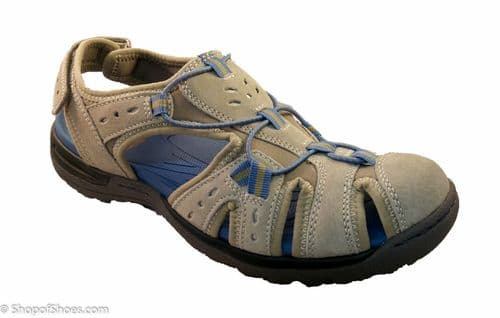 High impact comfort leather walking and leisure activity sandal.