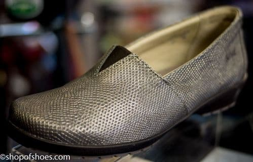 "Jean ""chain mail"" printed gunmetal versatile leather slip on shoe"