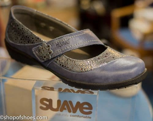 Joy blue gem encusted shoe