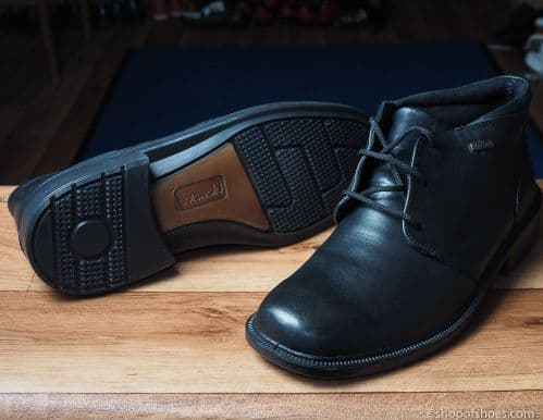 Leather soft black leather laced waterproof  boot