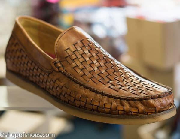 Lighter desigened soft woven Leather mens slip on loafer