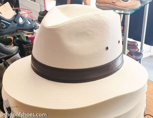 Mens cotton summer fedora hat