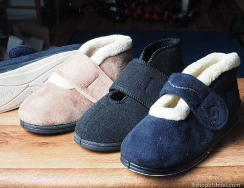 padders boot style 2E fit wider fitting padders slipper