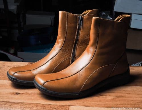 Padders tan ankle boot wider fit
