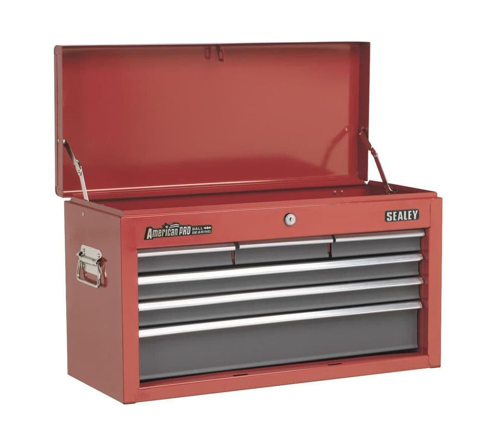 Sealey Topchest 6 Drawer with Ball Bearing Runners - Red/Grey