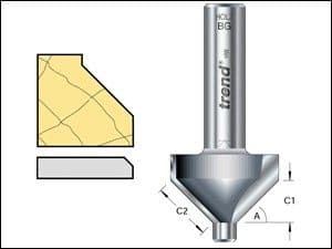 Trend 10H/1 x 1/4 TCT Pin Guided Chamfer / Bevel 45 10 .0 x 14.0mm