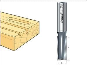 Trend 3/10 x 1/4 TCT Two Flute Cutter 3.2mm x 11mm