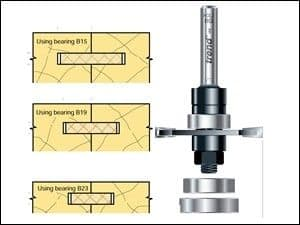 Trend 342 x 1/4 TCT Bearing Guided Biscuit Jointer 4.0 x 40mm