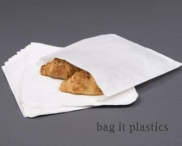 GREASEPROOF PAPER BAGS WHITE SANDWICH BAG TAKEAWAY SUITABLE FOR FOOD USE