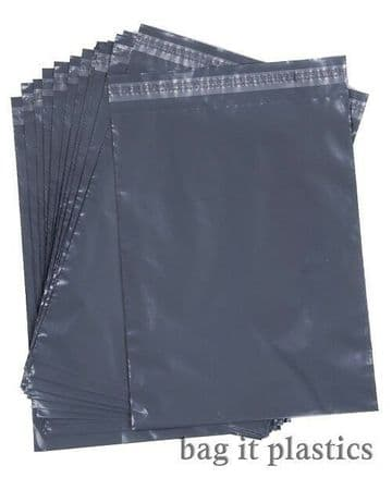 Mailing Bags Different Sizes Grey Postal Sacks Plastic Envelopes Pack Postage