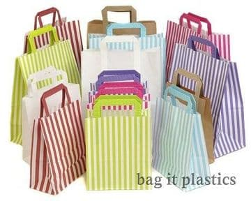 PAPER CARRIER BAGS SOS CANDY STRIPE PARTY WEDDING HEN NIGHT
