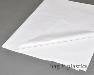 """TISSUE PAPER  SHEETS WHITE ACID FREE WRAPPING 18"""" x 28"""" / 450mm x 700mm"""