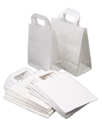 WHITE PAPER CARRIER BAGS SOS PARTY GIFT WEDDING HEN NIGHT