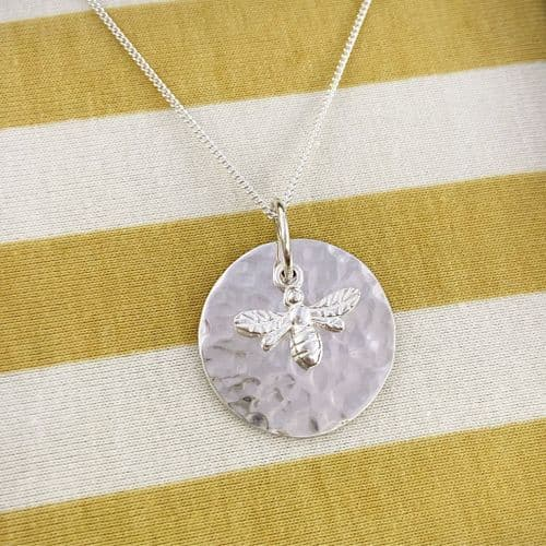 Bee Disc Necklace