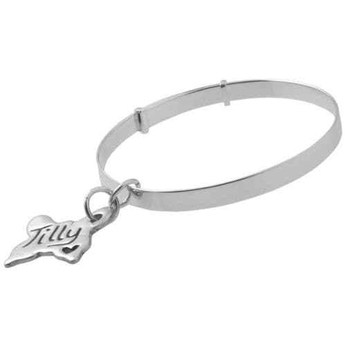 Childs Traditional Bangle And Charm