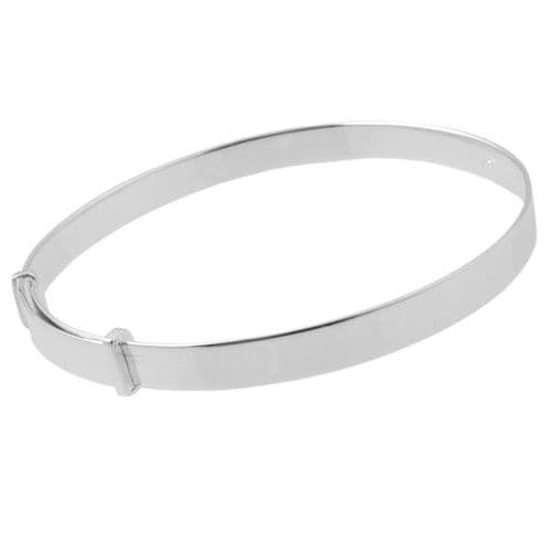 Childs Traditional Silver Bangle