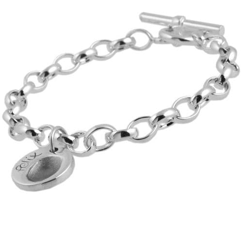 Circle Fingerprint Charm And Belcher Bracelet