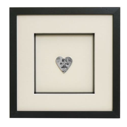 Framed Silver Paw Prints