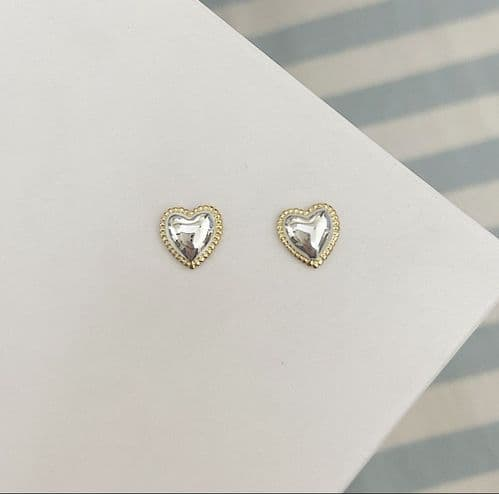 Gold & Silver Heart Studs