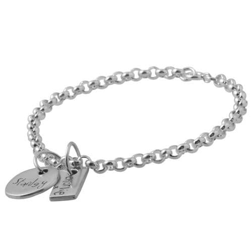 Handwriting Charm Bracelet